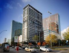 Hochhäuser am Berliner Tor - ehem. Polizeihochhaus umgebaut - Neubauten Berliner Tor Center in Hamburg St. Georg.
