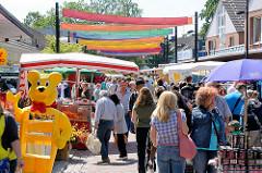Flohmarkt am Schmuggelstieg - Tarpenufer in Hamburg Ochsenzoll / Norderstedt.