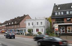 Historische und moderne Häuser Bramfelder Chaussee.