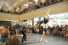 Ballettproben im Alstertal Einkaufs Zentrum.