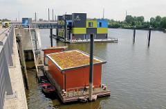 Blick über den Müggenburger Zollhafen - Bilder aus dem Hamburger Stadtteil Veddel, Bezirk Hamburg Mitte.
