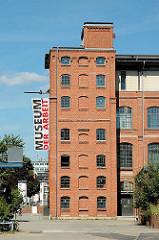 Gebäude des Museums der Arbeit auf dem ehemaligen Gelände der New-York-Hamburger Gummi-Waaren-Compagnie.