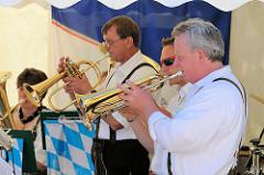 Fest im Harburger Hafen - bayrisches Blasorchester auf dem Binnenhafenfest.