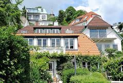 Einzelhäuse im Treppenviertel von Hamburg Blankenese.