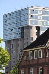 Moderne Architektur in Hamburg Harburg - umgebautes Getreidesilo zu Büros / Schellerdamm.