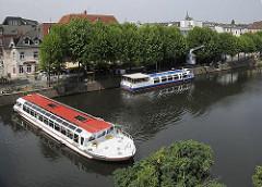 Hafen Bergedorf - Serrahn, Fahrgastschiffe - Schiffe der Bergedorfer Schifffahrtslinie - Rundfahrten.