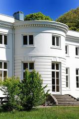 Hamburgs historische Architektur - Landhaus Godeffroy, Hirschparkhaus. Architekt Christian Frederick Hansen.