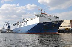 Frachtschiff im Kuhwerder Hafen - Bilder vom Hafen Hamburgs, HH-Steinwerder.