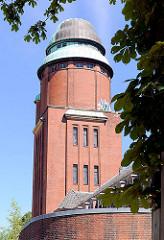 Wasserturm Hamburg Barmbek - Gelände des ehem. Allgemeinen Krankenhauses Barmbek.