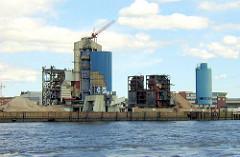 Abriss des HEW Kraftwerk Hafen beim Strandhafen / Magdeburger Hafen, Norderelbe (2001)