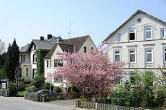Historische Wohngebäude im Hamburger Stadtteil Cranz - Bezirk Harburg.