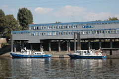 Polizeistation der Wasserschutzpolizei auf Hamburg Steinwerder - Travehafen.