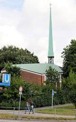 Kirche der Selbständigen Evangelisch-Lutherischen Kirche - Kirche zur Heiligen Dreieinigkeit Hamburg Hamm; Burgstrasse.