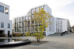 Büroneubauten auf dem ehem. Gelände der Standortkommandantur an der Sophienterrasse in Hamburg Harvestehude.