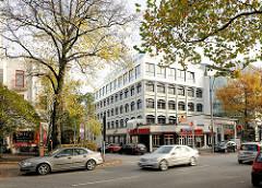 Moderne Architektur der 1970er Jahre - Hamburg Rotherbaum, Mittelweg.