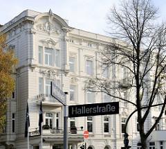 Historisches Etagenhaus am Mittelweg in Hamburg Pöseldorf / Rotherbaum.