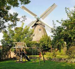 Windmühle / Stadtmühle von Malchow; ca. 130 Jahre alt.