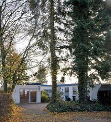 Bewobau-Siedlung Quickborn; unter Denkmalschutz stehende Eigenheimsiedlung in der Marienhöhe; errichtet 1962 - 1963, Architekt Richard Neutra.