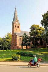 Stadtkirche von Malchow, erbaut 1873 - Baumeister Georg Daniel, neogotischer Baustil.