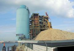 Abriss des HEW Kraftwerks am Strandhafen /  Magdeburger Hafen Grasbrook in der jetzigen Hamburger Hafencity. ( ca. 2001 )