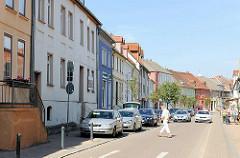 Wohnhäuser / Geschäfthäuser, Gründerzeitarchitektur - Bahnhofstrasse, Malchow / Mecklenburg-Vorpommern.