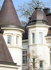 Erkertürme - Villa in Hamburg Rothenbaum, Pöseldorf.
