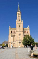 Stadtkirche von Fürstenberg (Havel); erbaut 1845 - Architekt  Friedrich Wilhelm Buttel.