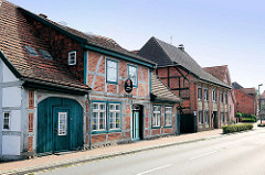 Denkmalgeschützte Fachwerkhäuser, Wohnhäuser in Hagenow, Wittenburger Strasse.