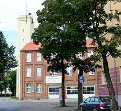 Gebäude der Freiwilligen Feuerwehr in Rathenow - Schlauchturm.
