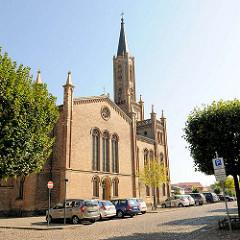 Stadtkirche von Fürstenberg (Havel); erbaut 1845 - Architekt  Friedrich Wilhelm Buttel