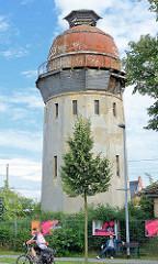 Alter Wasserturm am Bahnhof Rathenow.