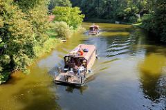 Hausboote auf der Havel bei Steinförde / Fürstenberg.