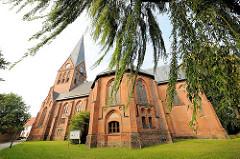 Neugotische Stadtkirche von Hagenow - erbaut 1879.