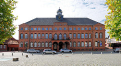 Rathaus von Hagenow an der Langen Strasse / Rathausplatz.