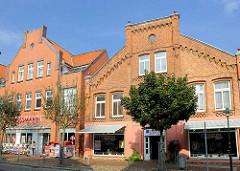 Wohn- und Geschäftshäuser in der Langen Strasse von Hagenow.
