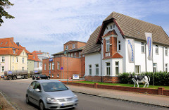 Fabrikantenvilla und Gewerbegebäude in der Parkstrasse von Hagenow.