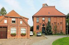 Historische Häuser, Pfaffenstrasse in Hagenow.