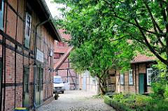 Historisches Gebäudeensemble - Fachwerkhäuser, Industriearchitetektur der ehm. Maschinenfabrik Fischer & Havemann - Ausstellung.