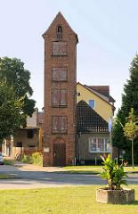Alter Schlauchturm der Feuerwehr von Fürstenberg, Havel.