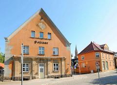 Altes Postgebäude in der Poststrasse von Fürstenberg, Havel.
