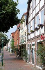 Fassaden von Wohnhäusern / Geschäftshäuser, Lange Strasse / Hagenow.