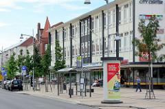 Geschäftshäuser, Wohngebäude in der Berliner Strasse von Rathenow.