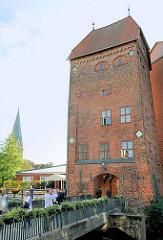 Alter Wasserturm an der Ratsmühle / Ratswasserkunst in Lünbeburg.