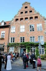 Heinrich Heine Haus in Lüneburg - Patrizierhaus aus dem 15 / 16. Jahrhundert; die Eltern des Dichters leben von 1822 -1826 in dem historischen Gebäude.