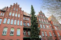 Wohnhäuser, Backsteinarchitektur - Hansestadt Lüneburg.