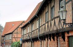 Fachwerkarchitektur in der Hansestadt Lüneburg, Hinter der Bardowiker Mauer.
