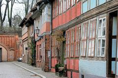 Historische Fachwerkarchitektur - Reitende Diener Strasse, Lüneburg.