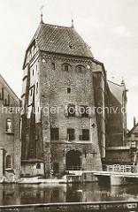 Historische Fotografie vom Alten Wasserturm in Lüneburg.