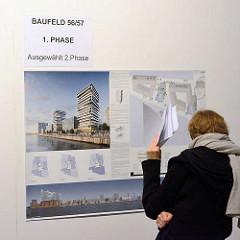 Ausstellung zum Architekturwettbewerb zur Bebauung des Strandkais - Entwürfe von 33 Architekturbüros werden gezeigt.