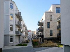 Hinterhofbebauung in der Talstrasse von Hamburg Sankt Pauli - historische und moderne Wohnungen.